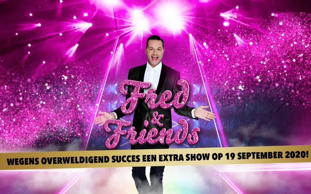Overweldigende belangstelling voor show Fred van Leer 'Fred and Friends' in Ahoy, zorgt voor tweede avond.