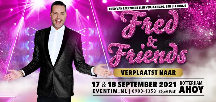 Shows Fred & Friends verplaatst naar september 2021!