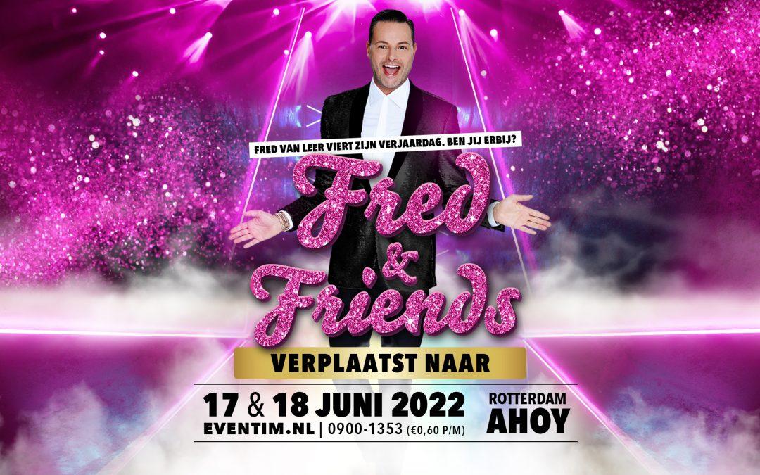 Shows Fred & Friends verplaatst naar juni 2022